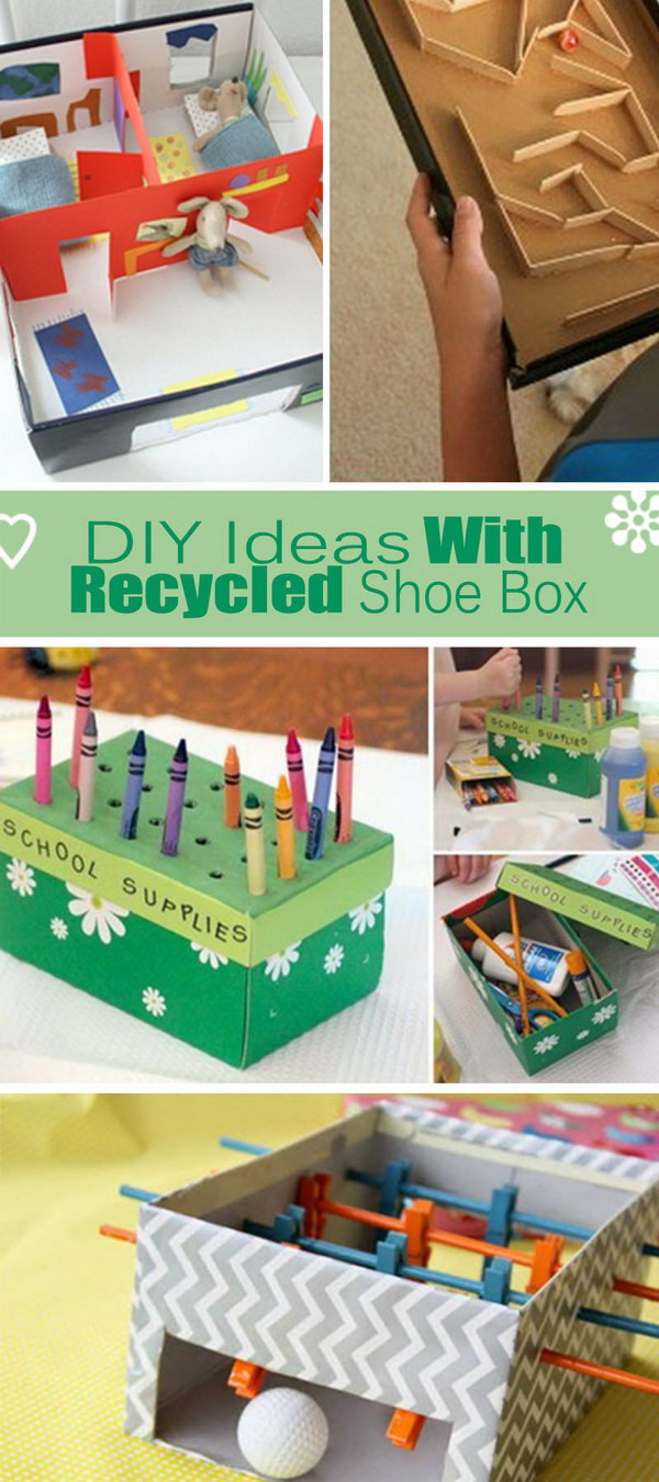 Best ideas about Shoes Box DIY . Save or Pin DIY Ideas With Recycled Shoe Box Hative Now.