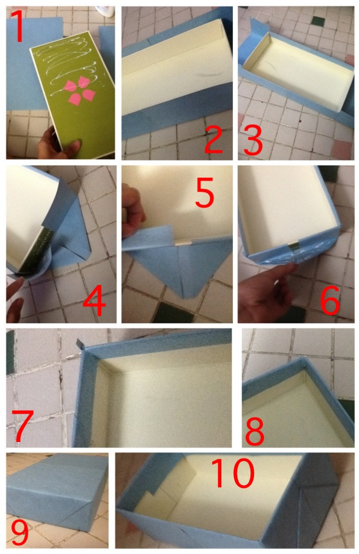 Best ideas about Shoes Box DIY . Save or Pin DIY Storage Box…Using shoe box Now.