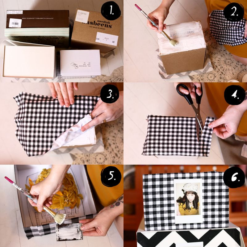 Best ideas about Shoes Box DIY . Save or Pin Fabric Covered Storage Boxes – A Beautiful Mess Now.