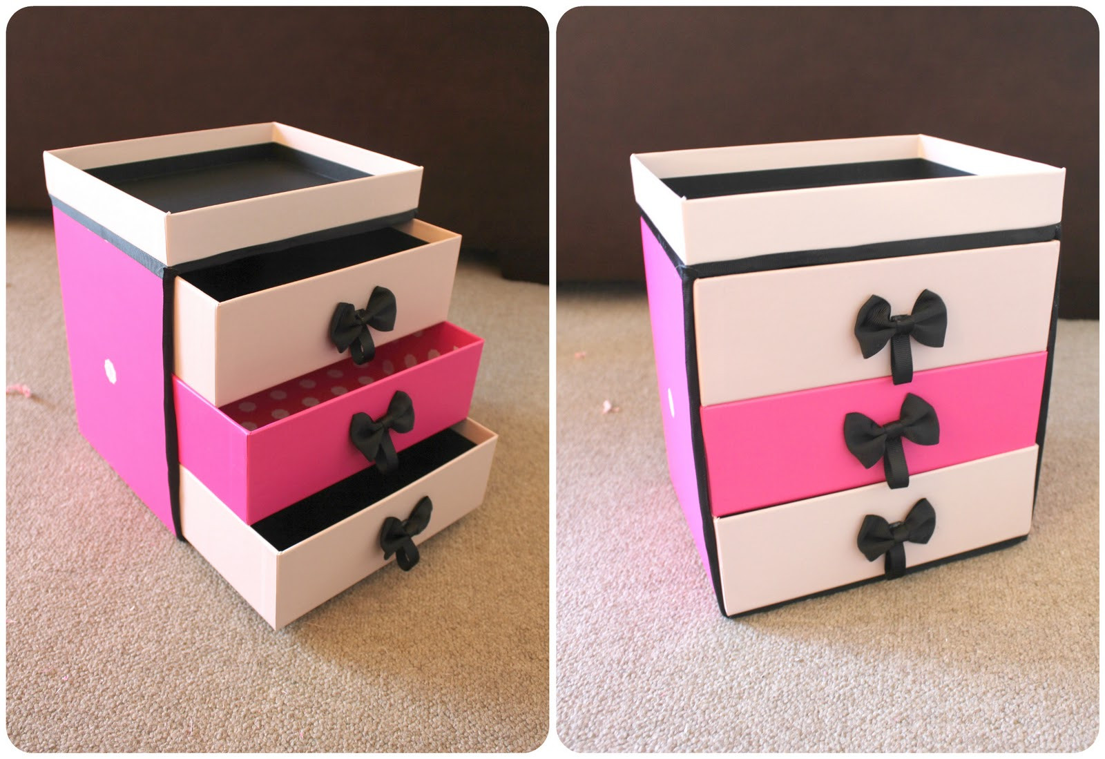 Best ideas about Shoes Box DIY . Save or Pin Peachfizzz DIY Make Up Storage Now.