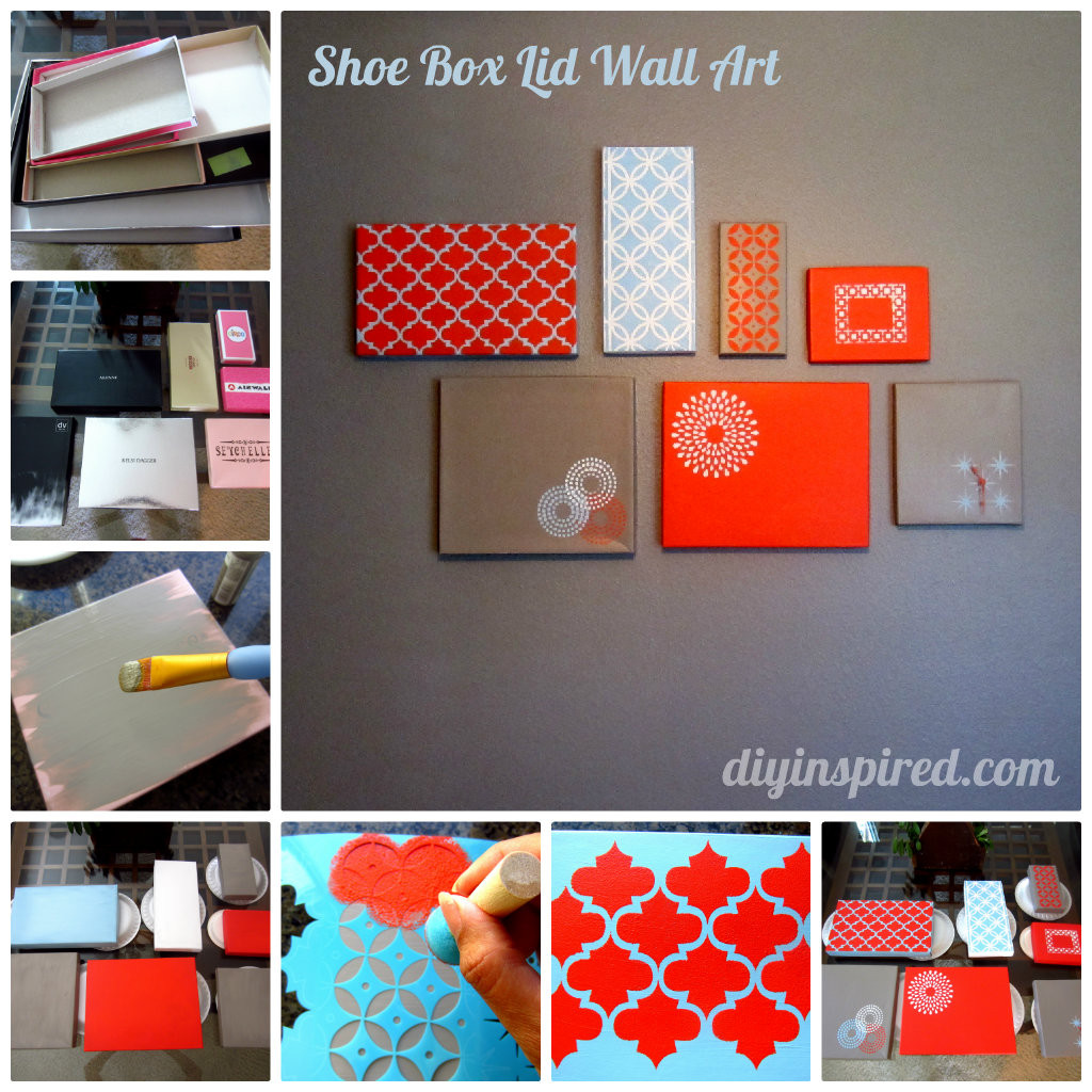 Best ideas about Shoes Box DIY . Save or Pin Shoe Box Lid Wall Art DIY Inspired Now.