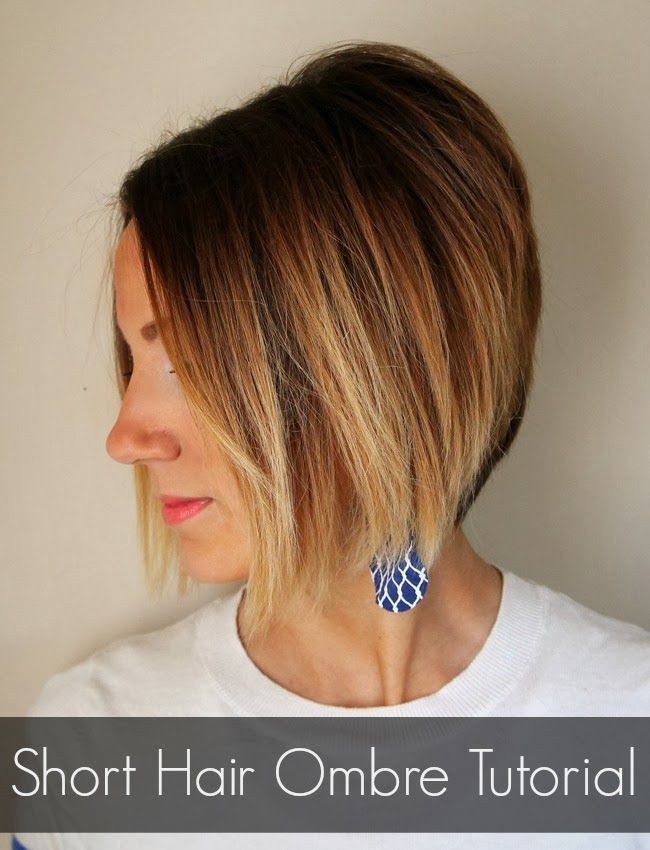 Best ideas about Short Hair Ombre DIY . Save or Pin How to color your own ombre short hair ombre tutorial Now.