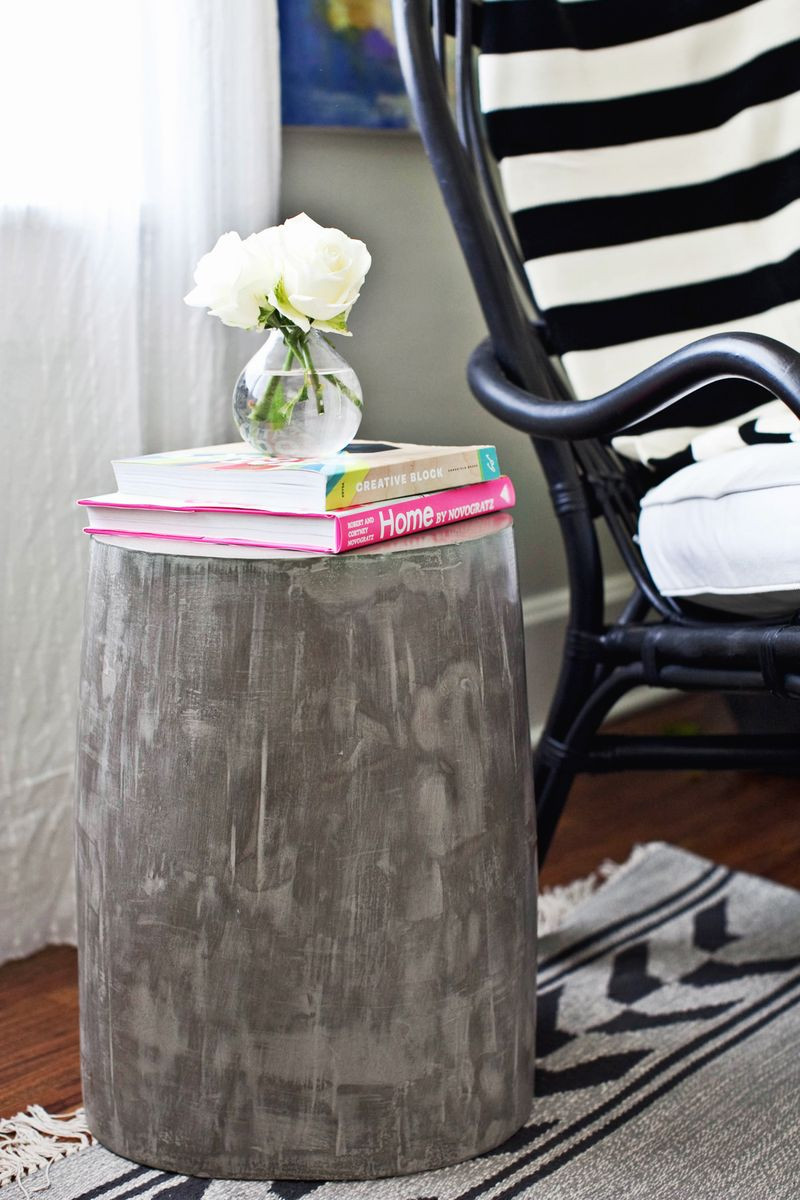 Best ideas about Side Tables DIY . Save or Pin DIY Lightweight Cement Side Tables – A Beautiful Mess Now.