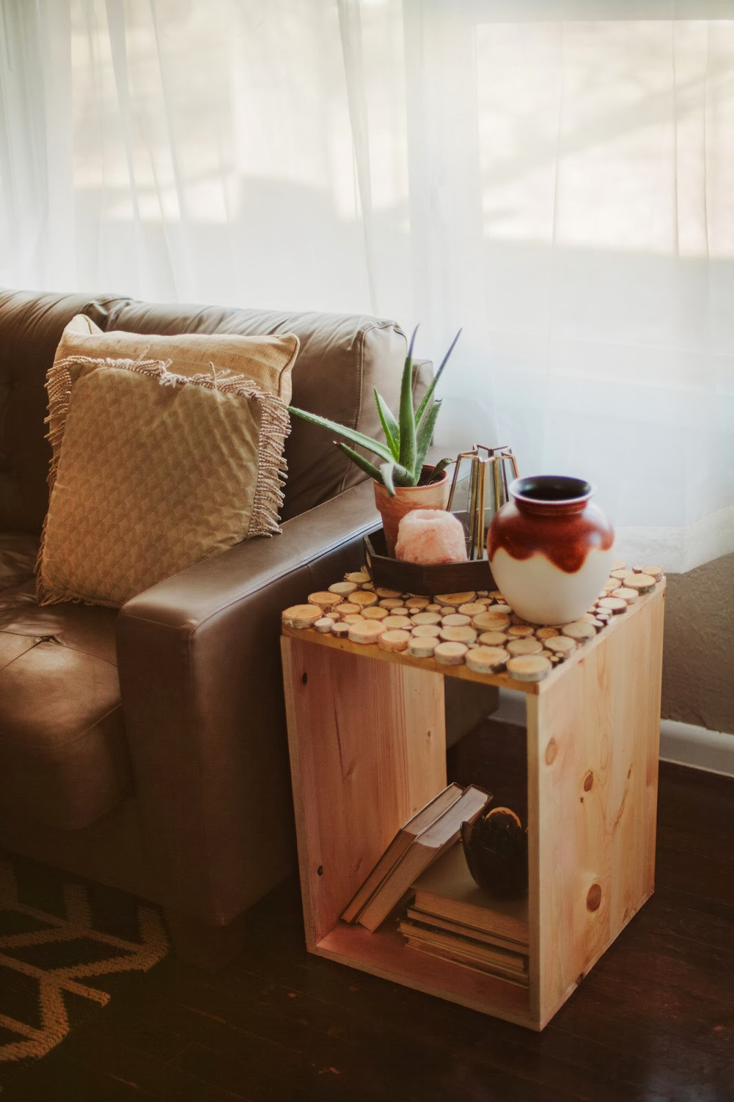 Best ideas about Side Tables DIY . Save or Pin Sincerely Kinsey Birch Wood Table DIY Now.