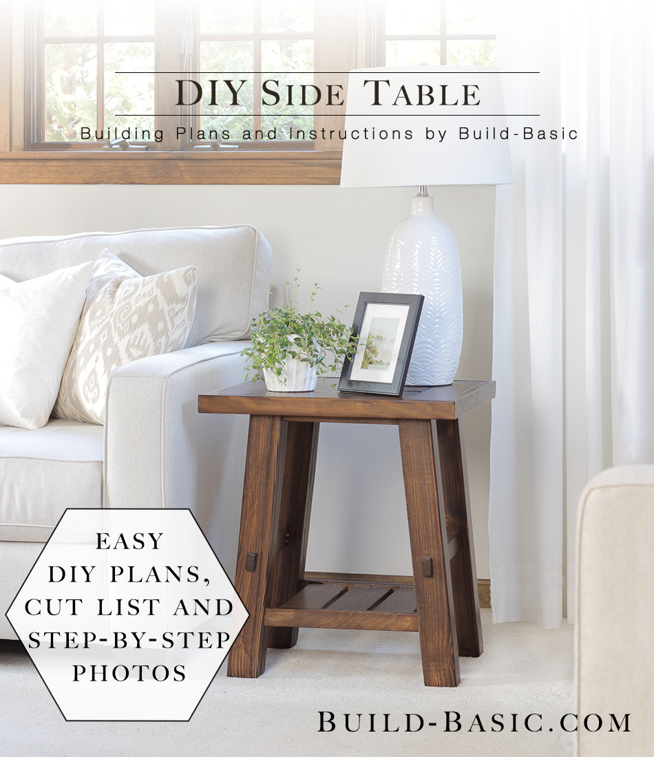 Best ideas about Side Tables DIY . Save or Pin Build a DIY Side Table ‹ Build Basic Now.
