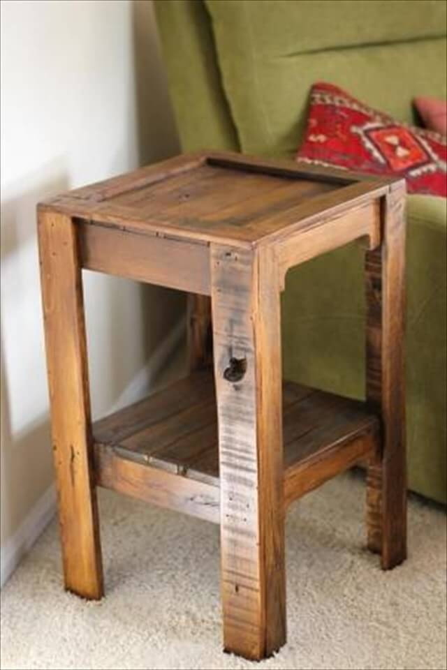 Best ideas about Side Tables DIY . Save or Pin 26 DIY Pallet Side Table Now.