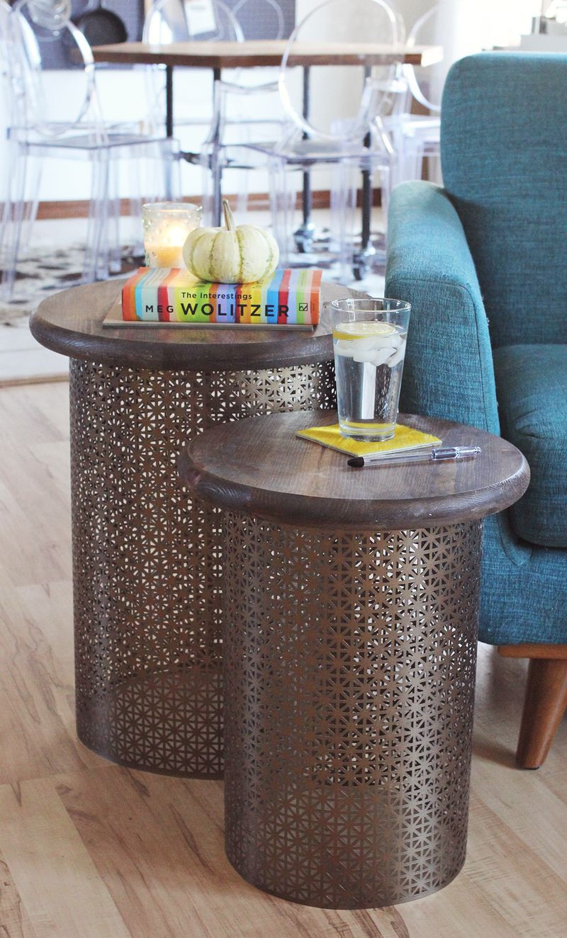 Best ideas about Side Tables DIY . Save or Pin DIY Brass Side Tables – A Beautiful Mess Now.