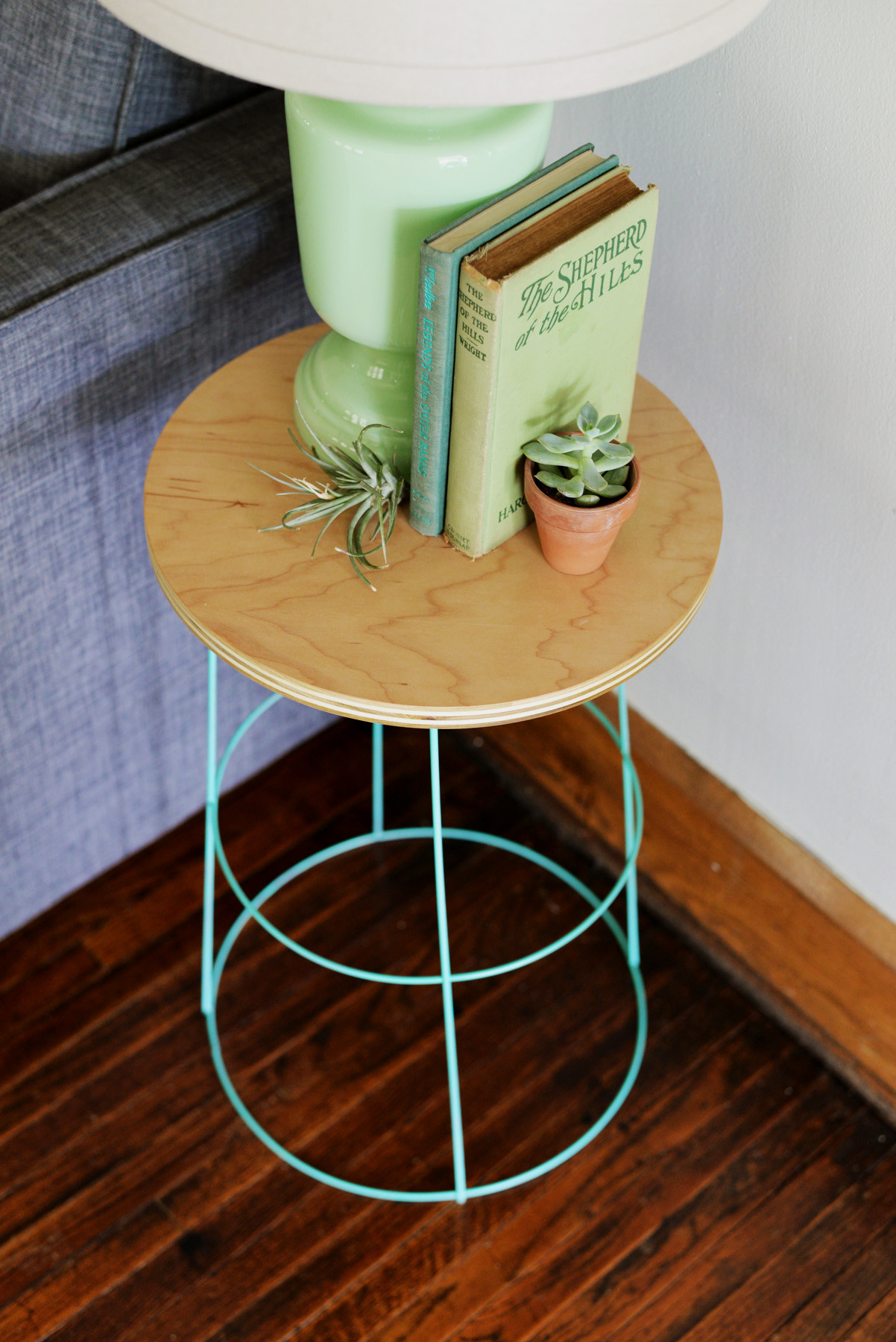Best ideas about Side Tables DIY . Save or Pin DIY Tomato Cage Side Table Now.