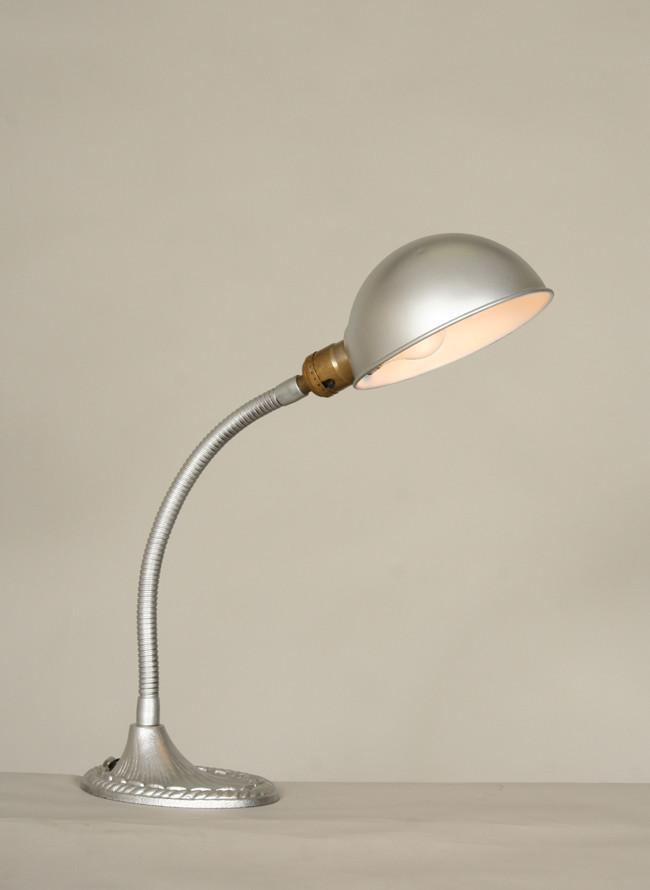Best ideas about Silver Desk Lamp . Save or Pin Vintage Silver Gooseneck Desk Lamp c 1930 Now.