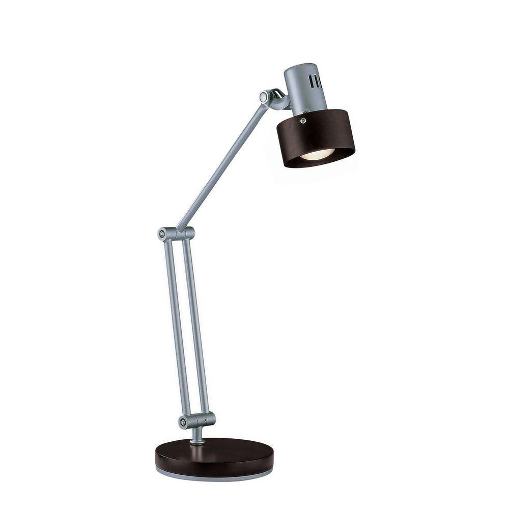 Best ideas about Silver Desk Lamp . Save or Pin Illumine 23 in Silver Desk Lamp CLI LS The Home Depot Now.