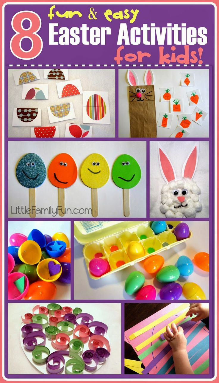 Best ideas about Simple Activities For Kids . Save or Pin FUN & EASY Easter crafts & activities for kids Cute ideas Now.