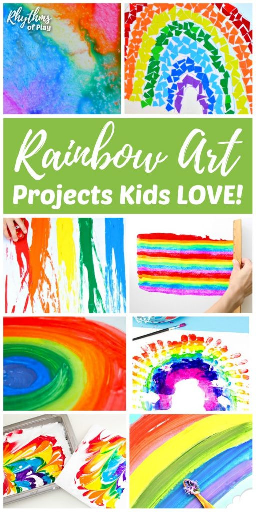 Best ideas about Simple Activities For Kids . Save or Pin Rainbow Art Projects Kids LOVE and Rainbow Crafts Too Now.