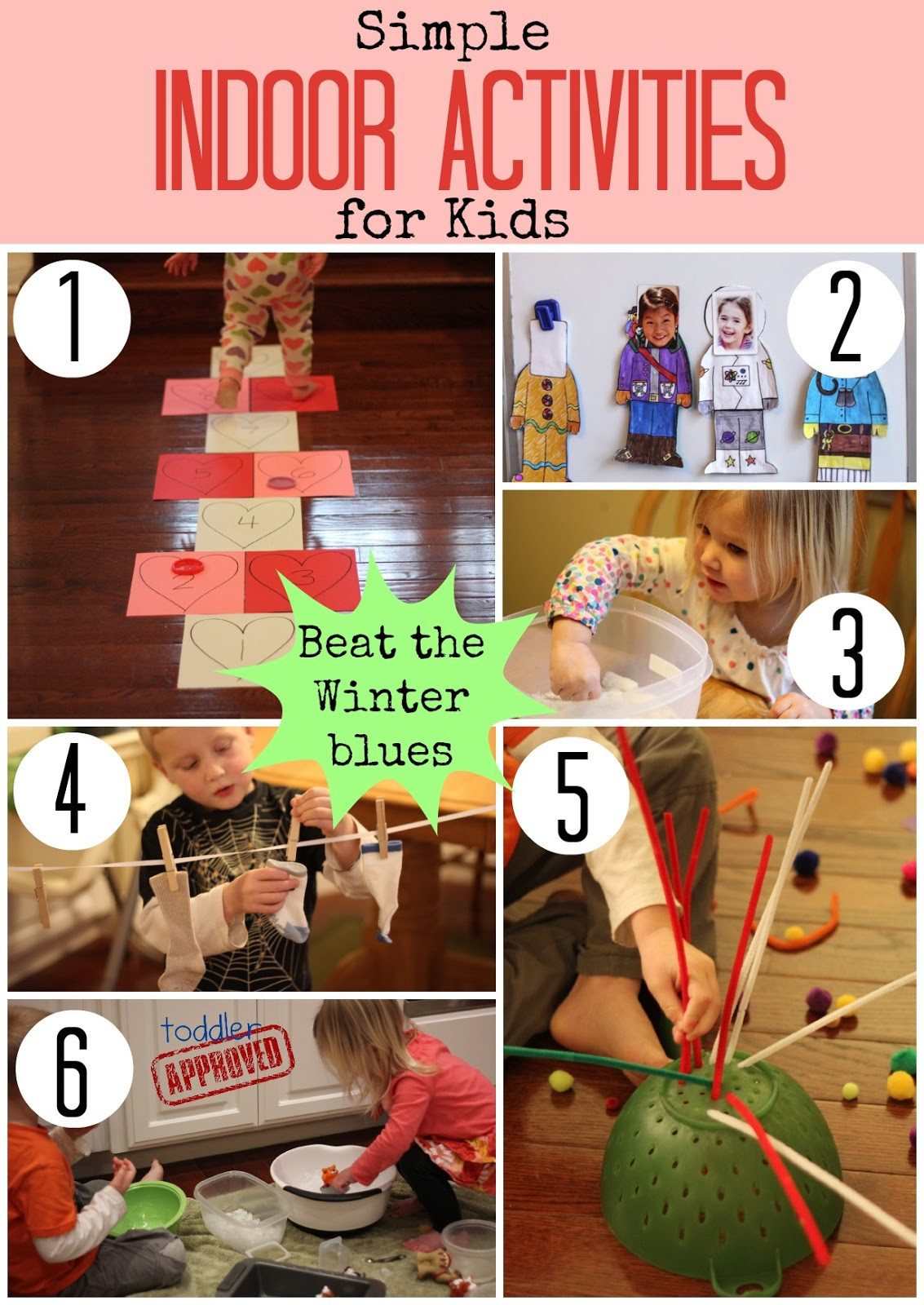 Best ideas about Simple Activities For Kids . Save or Pin Toddler Approved Simple Indoor Activities for Kids Now.
