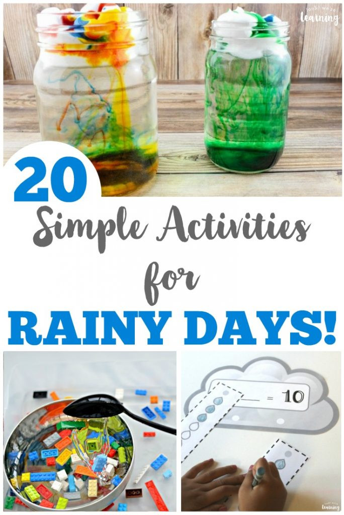 Best ideas about Simple Activities For Kids . Save or Pin 20 Simple Rainy Day Activities for Kids Look We re Now.
