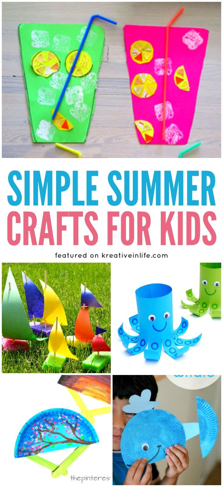 Best ideas about Simple Activities For Kids . Save or Pin Best 25 Summer crafts ideas on Pinterest Now.