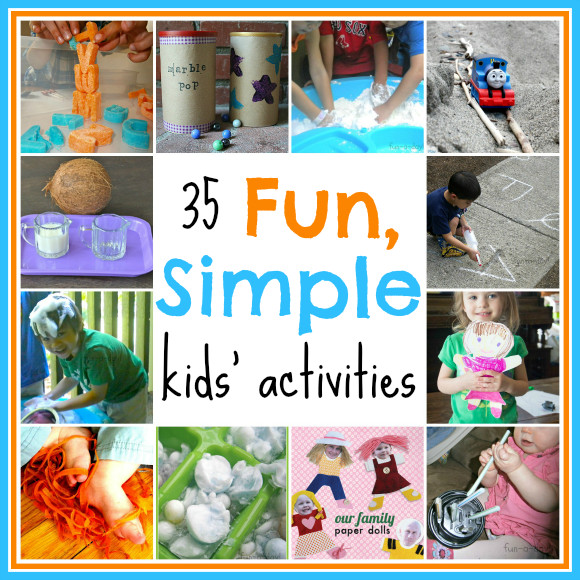 Best ideas about Simple Activities For Kids . Save or Pin 35 Fun Simple Kids Activities Stress Free Sunday 16 Now.