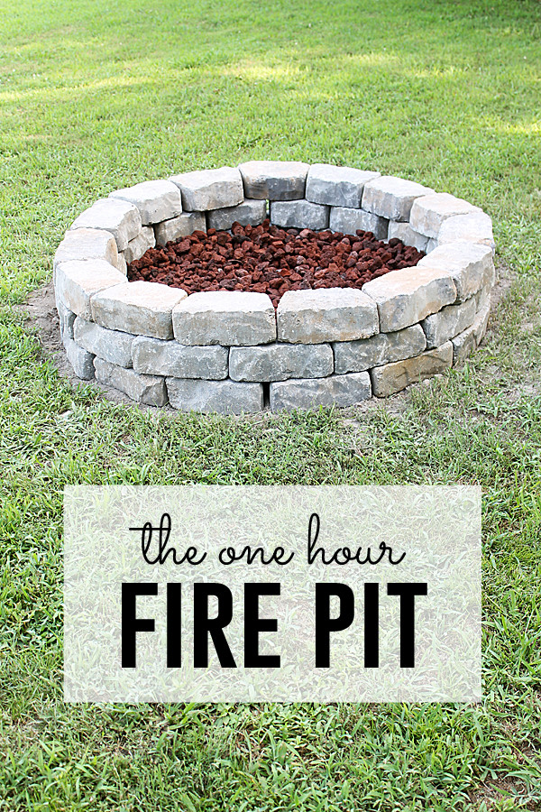 Best ideas about Simple Backyard Fire Pit Ideas . Save or Pin Fire Pit Project you can do in one hour Now.