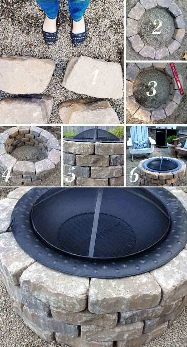 Best ideas about Simple Backyard Fire Pit Ideas . Save or Pin 39 Easy To Do DIY Fire Pit Ideas Homesthetics Now.