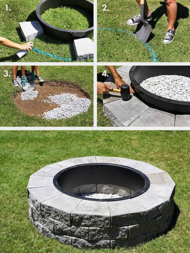 Best ideas about Simple Backyard Fire Pit Ideas . Save or Pin 12 Easy and Cheap DIY Outdoor Fire Pit Ideas The Handy Mano Now.