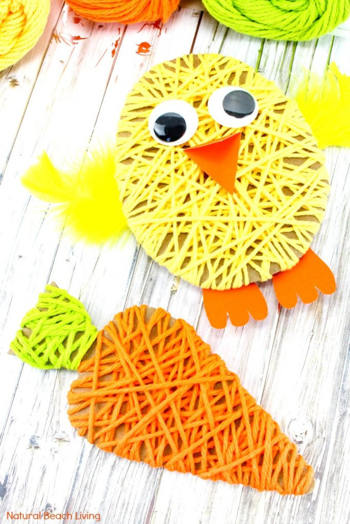 Best ideas about Simple Crafts For Kids . Save or Pin Easy Easter Crafts for Kids Yarn Crafts for Kids Now.