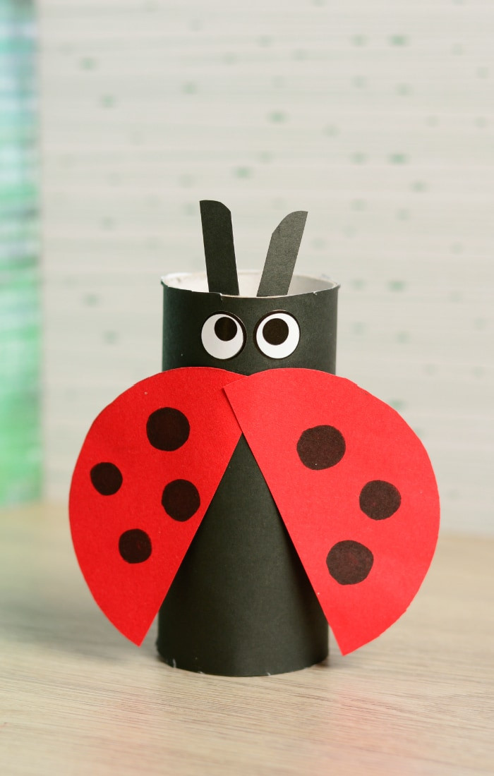 Best ideas about Simple Crafts For Toddlers . Save or Pin Toilet Paper Roll Ladybug Craft Easy Peasy and Fun Now.