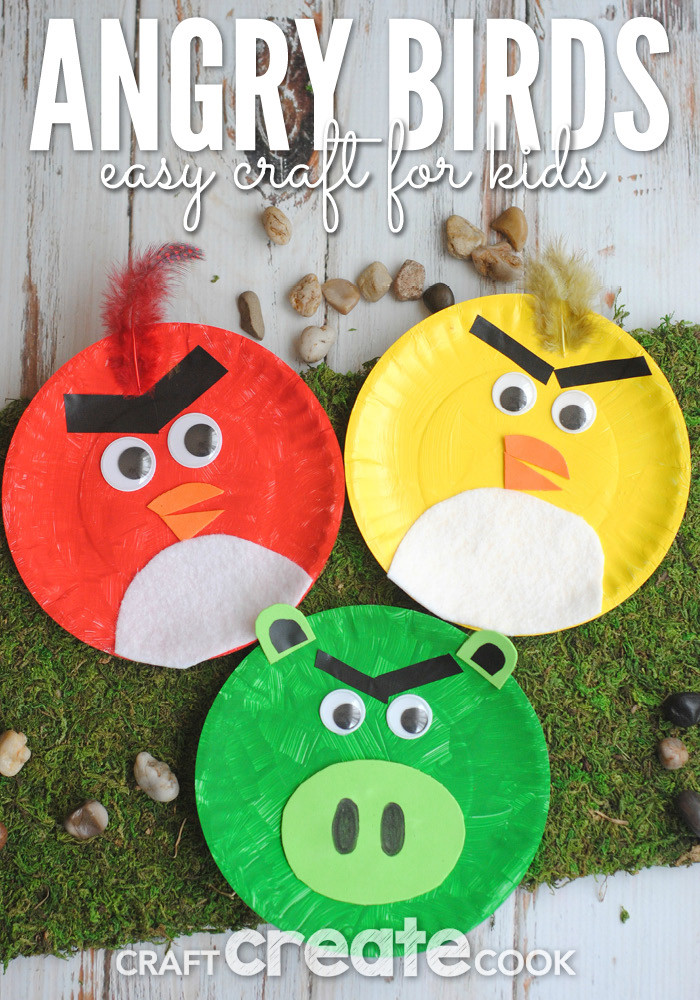 Best ideas about Simple Crafts For Toddlers . Save or Pin Craft Create Cook Angry Birds Paper Plate Kids Craft Now.