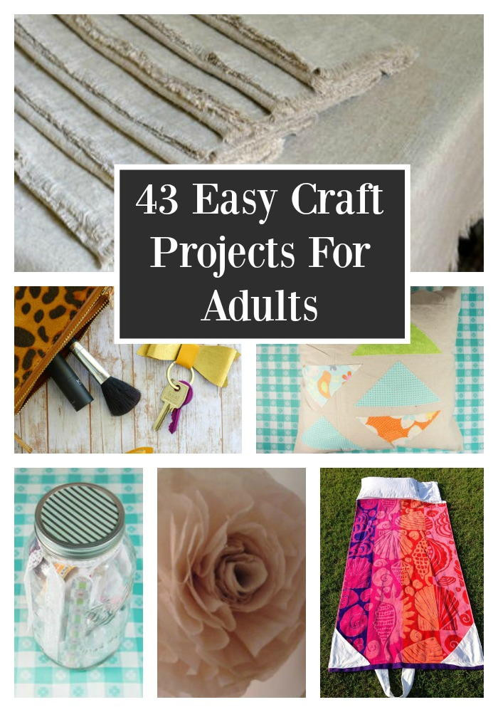 Best ideas about Simple Crafts Ideas For Adults . Save or Pin 43 Easy Craft Projects For Adults Now.