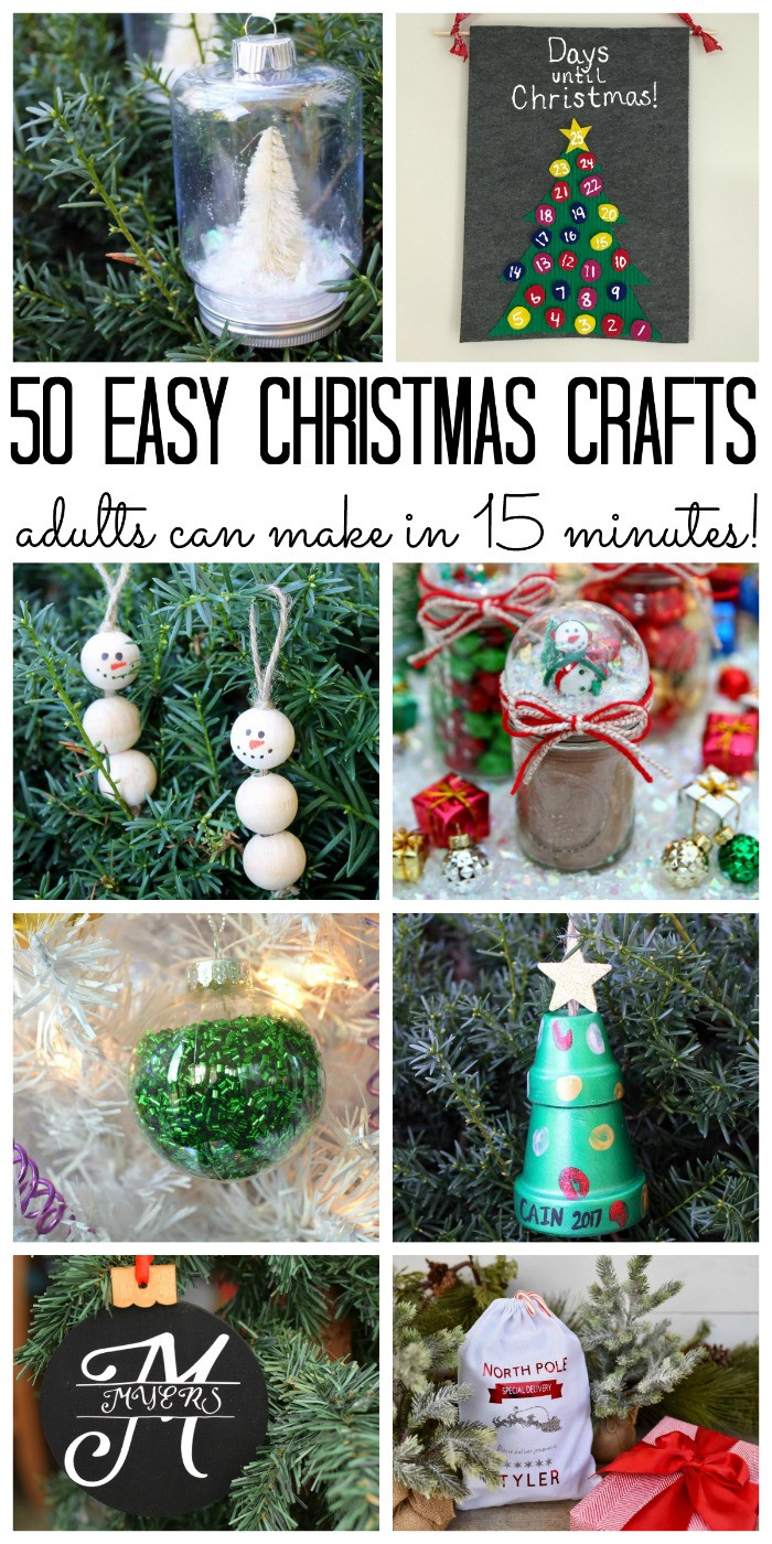 Best ideas about Simple Crafts Ideas For Adults . Save or Pin Over 50 Christmas Crafts for Adults The Country Chic Cottage Now.