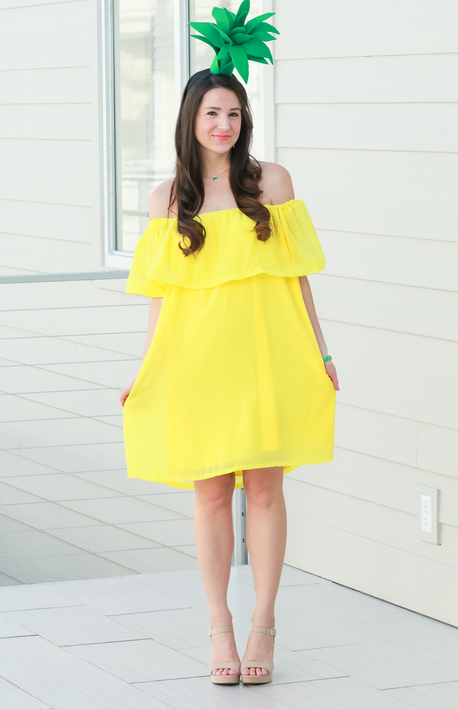 Best ideas about Simple DIY Halloween Costumes . Save or Pin DIY Pineapple Costume That Costs Less Than $3 to Make Now.