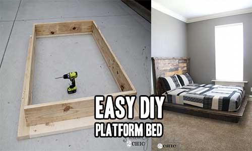 Best ideas about Simple DIY Platform Bed . Save or Pin Easy DIY Platform Bed – iSeeiDoiMake Now.