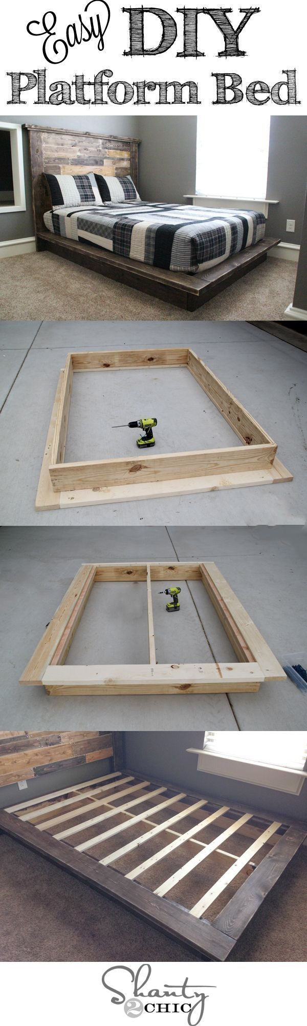 Best ideas about Simple DIY Platform Bed . Save or Pin DIY Platform Bed s and for Now.