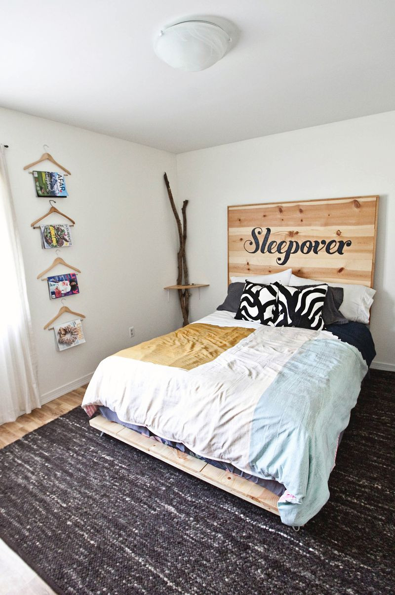 Best ideas about Simple DIY Platform Bed . Save or Pin DIY Simple Bed Frame – A Beautiful Mess Now.