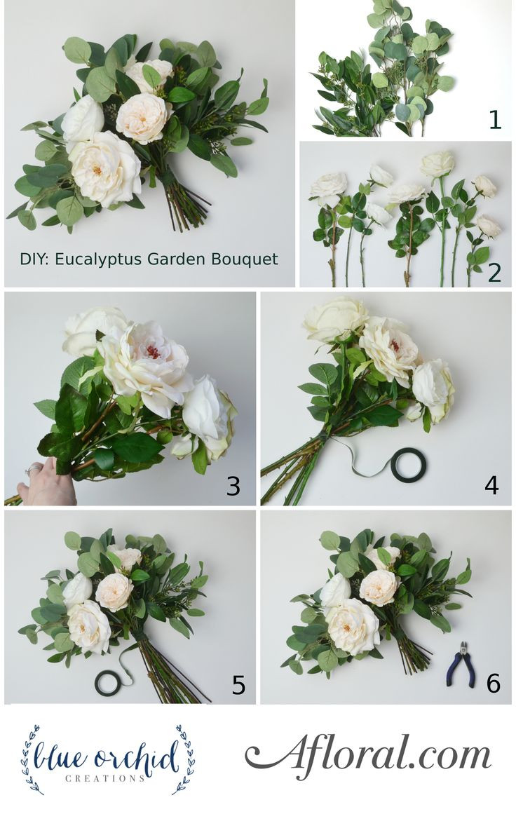 Best ideas about Simple Wedding Bouquets DIY . Save or Pin DIY Eucalyptus Bouquet in 2019 DIY Wedding Now.