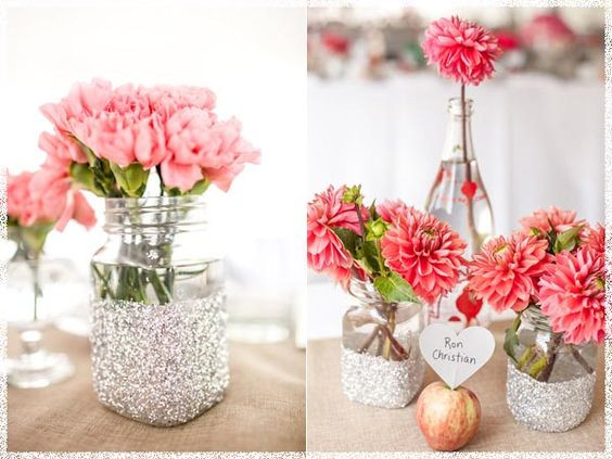 Best ideas about Simple Wedding Centerpieces DIY . Save or Pin Inspirations Diy Simple Wedding Centerpieces With Pink Now.