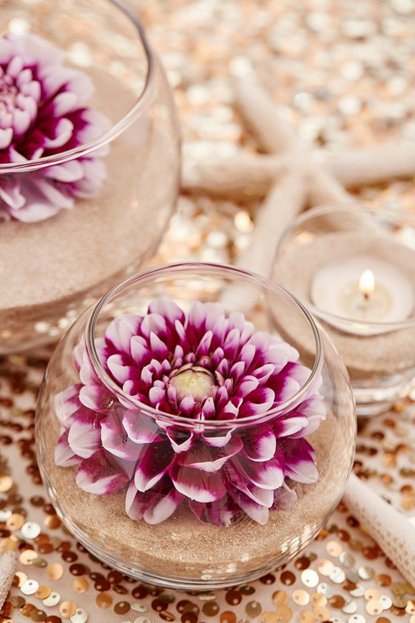 Best ideas about Simple Wedding Centerpieces DIY . Save or Pin 35 Gorgeous Beach Themed Wedding Ideas Now.
