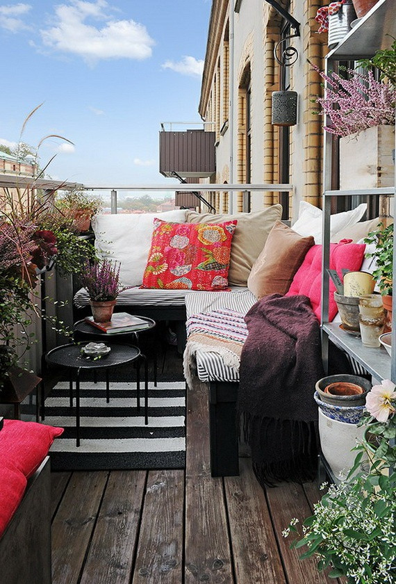 Best ideas about Small Apartment Patio Ideas . Save or Pin 23 Amazing Decorating Ideas for Small Balcony Style Now.