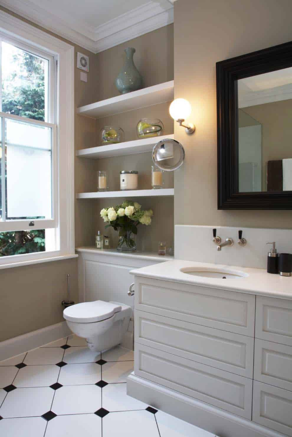 Best ideas about Small Bathroom Plans . Save or Pin 53 Most fabulous traditional style bathroom designs ever Now.