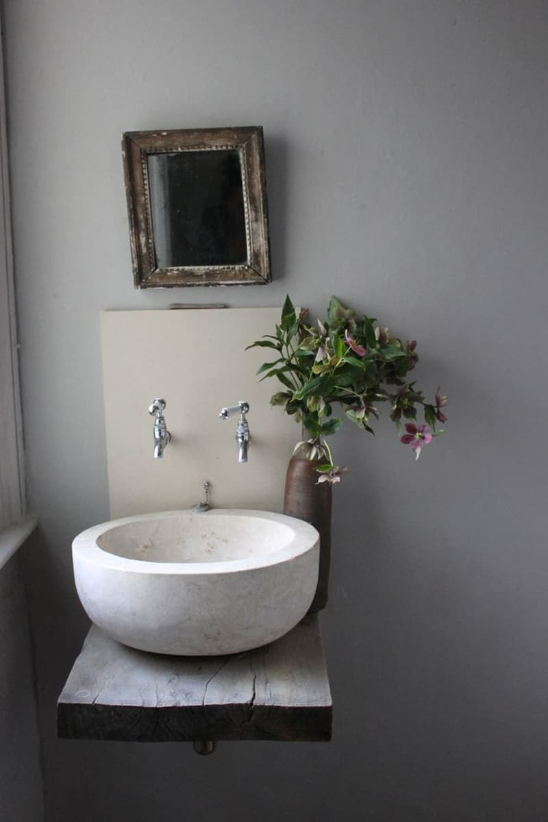 Best ideas about Small Bathroom Sink . Save or Pin 18 Cool Natural Stone Sinks Design Ideas Now.
