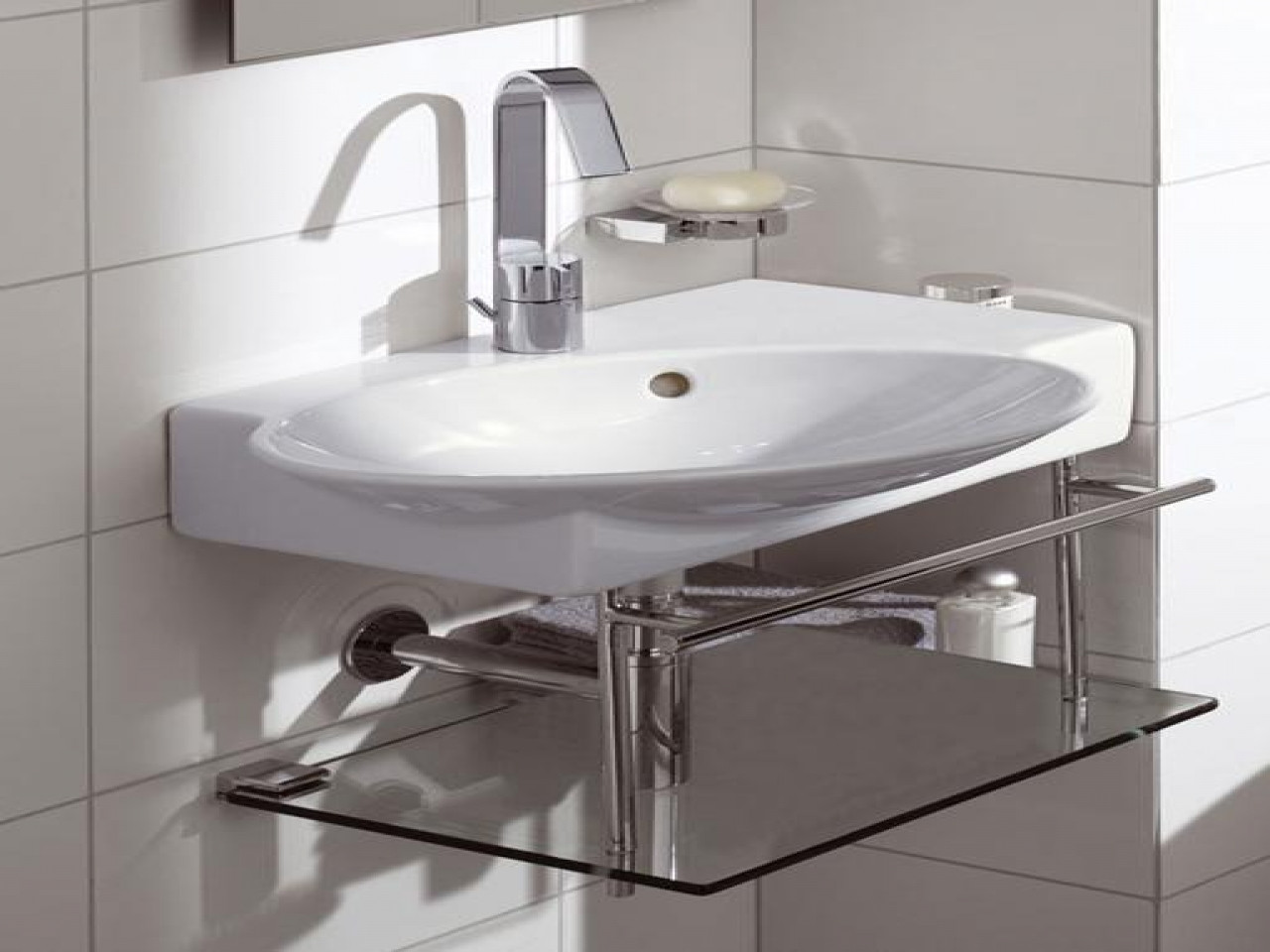 Best ideas about Small Bathroom Sink . Save or Pin Pedestal bathroom sinks small corner sink with vanity Now.