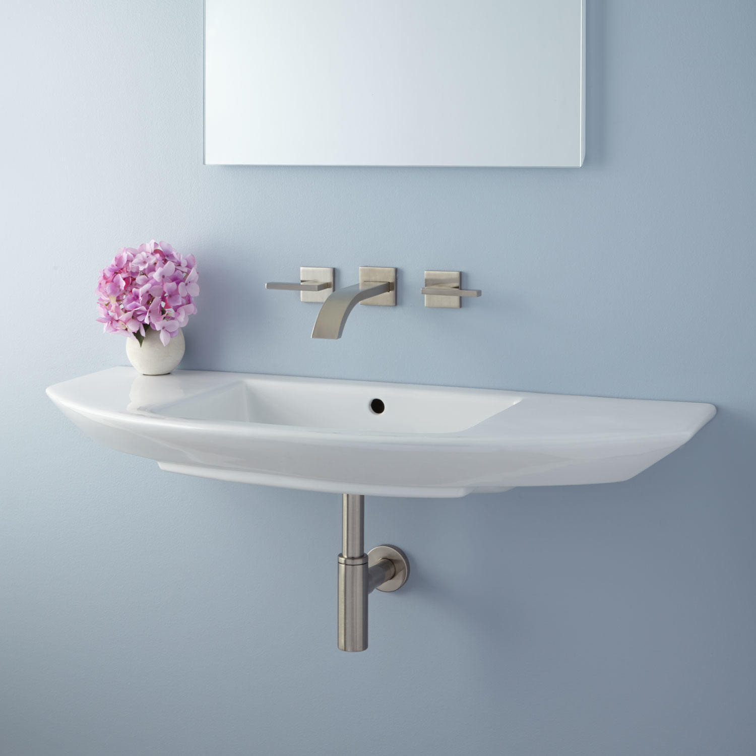 Best ideas about Small Bathroom Sink . Save or Pin Finola Mini Wall Mount Sink Bathroom Now.