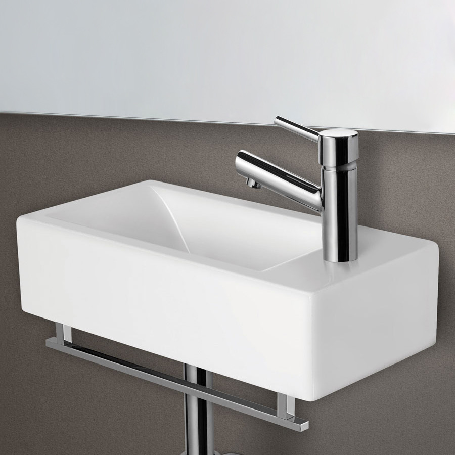 Best ideas about Small Bathroom Sink . Save or Pin ALFI Brand AB108 Small White Modern Rectangular Wall Now.