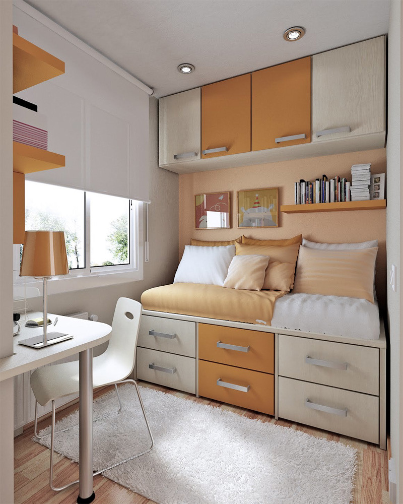 Best ideas about Small Bedroom Layout . Save or Pin 50 Thoughtful Teenage Bedroom Layouts Now.
