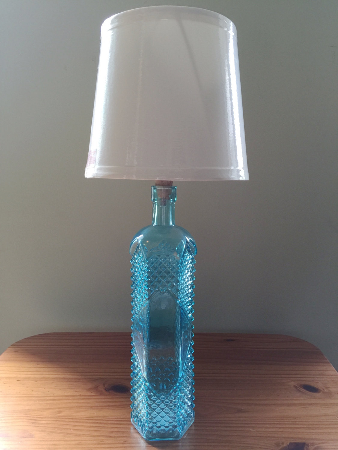 Best ideas about Small Desk Lamp . Save or Pin Blue Glass Table Lamp Pillar Table Lamp Small Table Light Now.