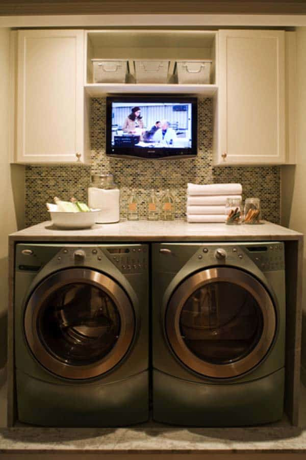 Best ideas about Small Laundry Room Design . Save or Pin 60 Amazingly inspiring small laundry room design ideas Now.