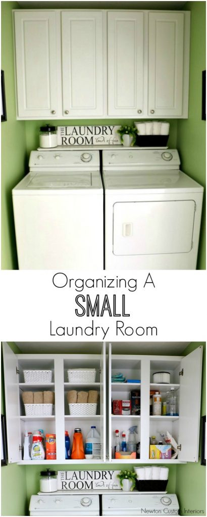 Best ideas about Small Laundry Room Organization Ideas . Save or Pin Organizing A Small Laundry Room Newton Custom Interiors Now.