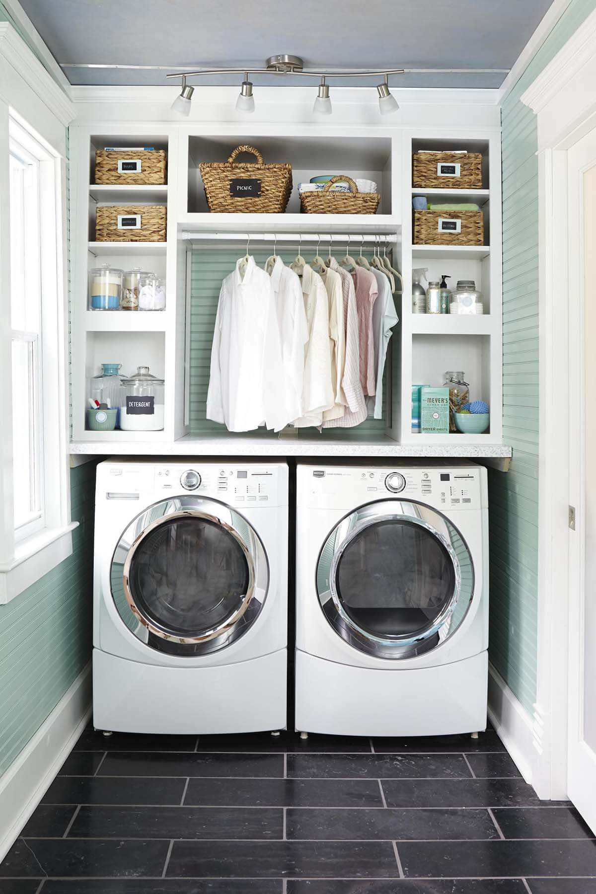Best ideas about Small Laundry Room Storage Ideas . Save or Pin 28 Best Small Laundry Room Design Ideas for 2019 Now.