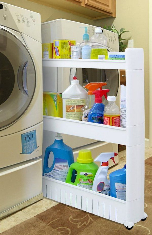 Best ideas about Small Laundry Room Storage Ideas . Save or Pin 50 Laundry Storage And Organization Ideas 2017 Now.