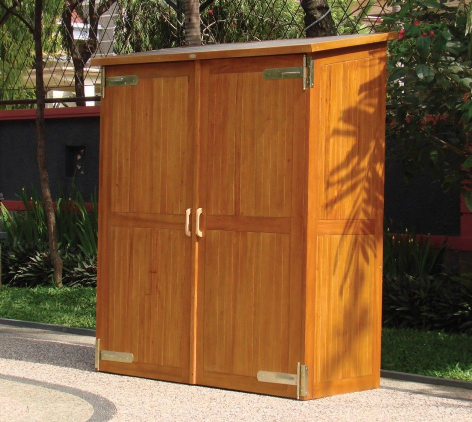 Best ideas about Small Outdoor Storage Cabinet . Save or Pin Glittering Outdoor Storage Cabinet With Polyurethane Now.