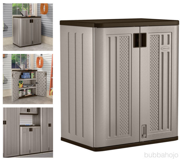 Best ideas about Small Outdoor Storage Cabinet . Save or Pin Small Outdoor Storage Cabinets Suncast Lawn Yard Patio Now.