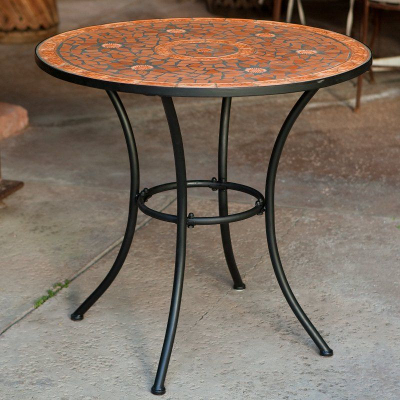 Best ideas about Small Patio Tables . Save or Pin Mosaic Bistro Table Indoor Outdoor Home Kitchen Dining Now.